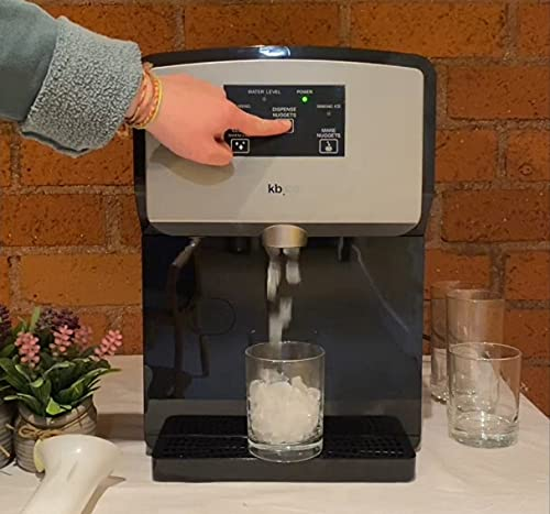 KBice Self Dispensing Countertop Nugget Ice Maker, Crunchy Pebble Ice...