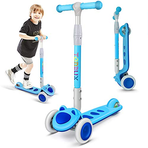 Toddler Scooter, TONBUX 3 Wheel Kick Scooter for Toddlers, Kids Age 3-8