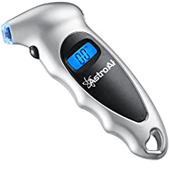 ▲Check out our VIDEO on the left side and take a quick tour of AstroAI tire gauge! Backlit LCD display and Lighted nozzle for visibility in dimly light areas, best gift for men and women Designed to maintain correct tire pressure, reduce tire wear an...