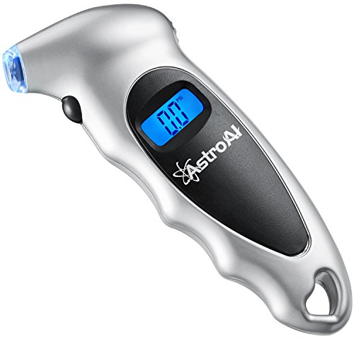 AstroAI Digital Tire Pressure Gauge 150 PSI 4 Settings for Car Truck Bicycle with Backlit LCD and...
