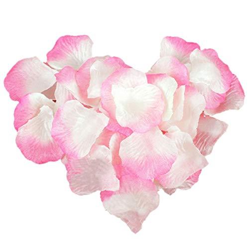 Yongbest Pétalos de Rosa Artificiales, 2000 Piezas Pétalos de Flores de Seda Petalos de Rosa Naturales Artificiales Florales para el día de San Valentín Decoraciones de Mesa de Bodas