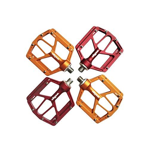 KEHUITONG Hochwertige Fahrradpedale - Aluminium CNC-gelagerte Mountainbike-Pedale - Rennradpedale mit 12 Anti-Rutsch-Stiften - Leichte Fahrrad-Plattformpedale - Universelle 9/16