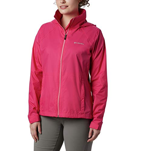 Columbia Women's Switchback III Adjustable Waterproof Rain Jacket, Cactus Pink, Small