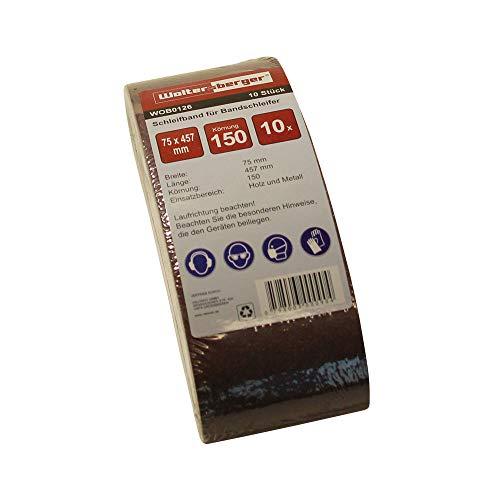 Woltersberger Bandas de lija de tejido (10 unidades, 75 x 457 mm, grano P-40)
