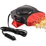 Portable Car Heater, Electronic Auto Heater Fan Fast Heating Defrost 12V 150W Car Heater 2 in 1 Heating/Cooling Function 3-Outlet Plug Into Cigarette Lighter 360 Degree Rotary