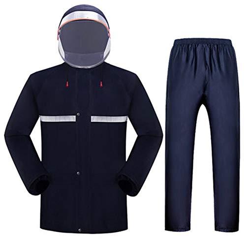 ZQQ wasserdichte Und Atmungsaktive Jacke, Leichte Und Atmungsaktive Outdoorjacke Doppelte Bequeme Hartschalenjacke Aus Stoff,Blau,XL