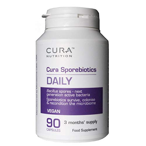 Cura Sporebiotics | Probiotic Supplement for Gut Health | 90 Capsules