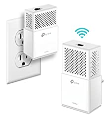 Wi fi Powerline adapter provides up to 1000Mbps Ethernet over Power, up to dual band 750mbps(300mbps 2.4Ghz+433mbps 5GHz) Wi Fi ideal to be Ethernet extender who can easily go over the walls As network adapters Supporting Home Plug AV2, Easy to add  ...