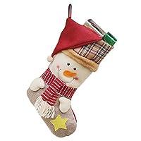 Grande regalo per un bambino - decorazione festiva semplice ma elegante. Semplice da appendere e facile da riempire con i bambini tratta. Con le calze fantastiche progettate, darai alla famiglia un Natale meraviglioso. Dacci loro proprio magazzino qu...
