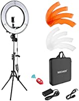 Neewer Camera Photo Video Light Kit: 18 Inches/48 Centimeters Outer 55W 5500K Dimmable LED Ring Light, Light Stand,...