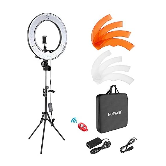 Neewer-Ring-Light-Kit1848cm-Outer-55W-5500K-Dimmable-LED-Ring-Light-Light-Stand-Carrying-Bag-for-CameraSmartphoneYouTubeTikTokSelf-Portrait-Shooting-Black-Model10088612