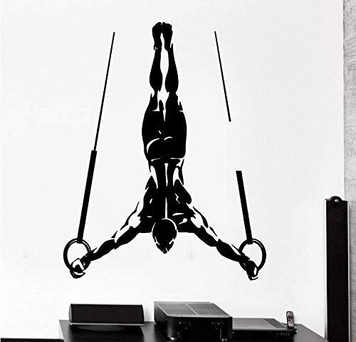 Gym Wandaufkleber Gymnastic Applique Ring Poster Vinyl Wand Applique Dekoration Wandbild Home Decoration 80 * 101Cm