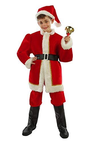 chiber Disfraces Disfraz Santa Claus Nio Deluxe (Talla 6 (4-6 aos))