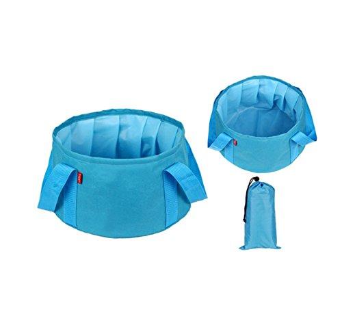 FACAI888 Pesca all\'aperto barile/pieghevole/portatile deposito secchio con acqua pentole/benne/Campeggio forniture