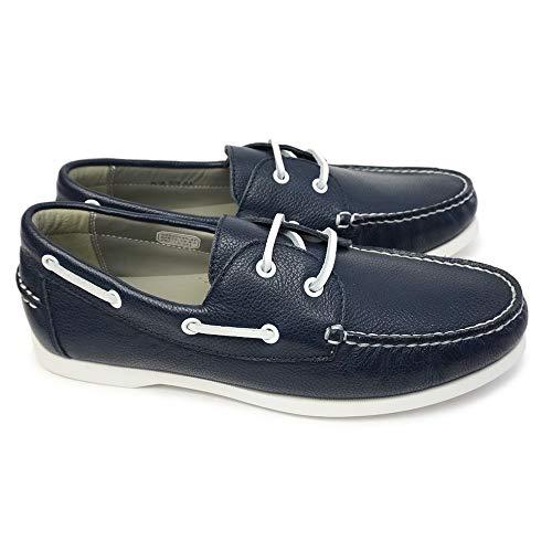 [リーガル] 靴 55TR デッキシューズ レザー メンズ モカシン カジュアルシューズ 本革 55TRAF ネイビー 25.5cm