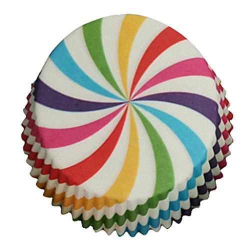 NINGSANJIN | 100 Stück | Papierbackförmchen | Papierförmchen | Muffinförmchen | Liner | Cupcakeförmchen | Backförmchen | Cupcakeförmchen | Candy Bar | Hochzeit | Wedding | Dekoration | Fettdicht Blau