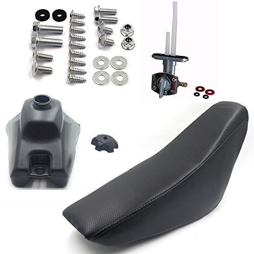 HTTMT - XH6011-SEAT+TANQUE+PERNO+INTERRUPTOR- Asiento Gas Tanque de Gasolina Carenado Panel Pernos Compatible con CRF50 CRF 50 Pit Bike