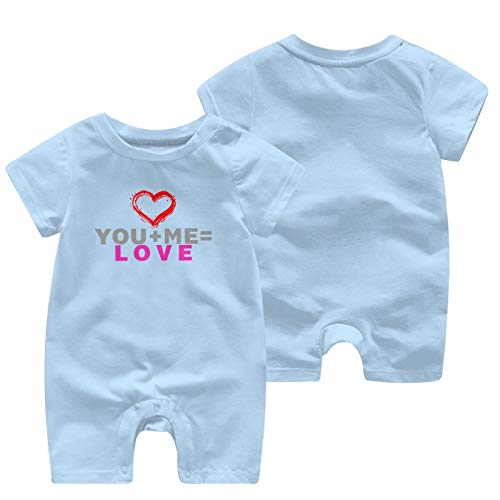 Kgblfd You Plus Me Equal Love - Mono para recién nacidos (algodón), color blanco