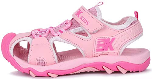 GURGER Sandalen Mädchen Kinder Sommer Schuhe Sneakers Strandschuhe Sport Outdoorsandalen Trekkingsandalen Wandersandalen Sandalette Pink gr 26