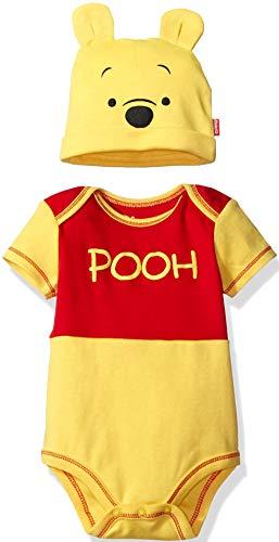 Disney Winnie The Pooh Baby Boys Bodysuit Hat Set, Yellow 12 Months