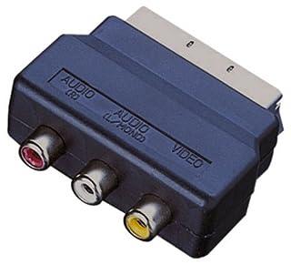 scheda adattatore scart con 3prese fono nero electrovision