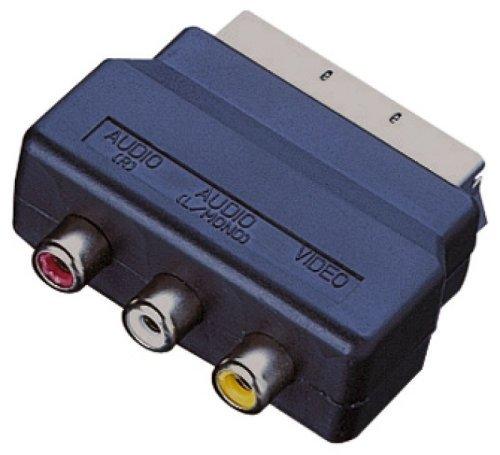 Euroconector Electrovision Adaptador con 3 Conectores de Audio - Negro