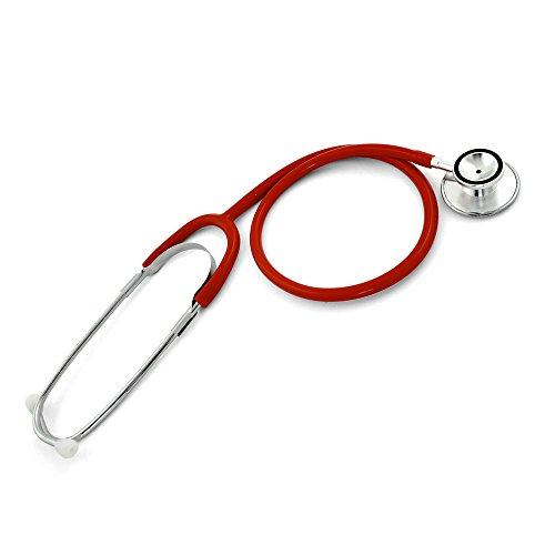 Teqler Doppelkopf-Stethoskop T-401126rt, rot