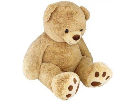 Nicotoy Plüschtier Mega Bär beige 1 m 35 – Teddy – Riesiges Plüschtier