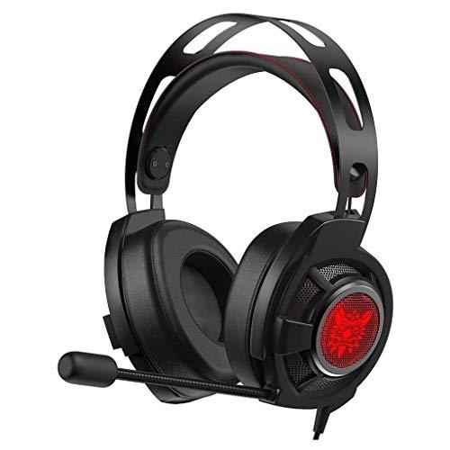 Auricular for Juegos Xbox One Auriculares con Sonido Envolvente 7.1 estéreo, PS4 micrófono con cancelación de Ruido de luz LED, Compatible con PC PS4