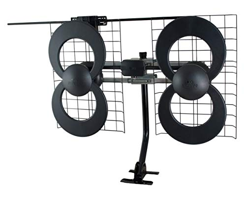 Antennas Direct ClearStream 4V TV Antenna, UHF/VHF, Multi-directional, Indoor, Outdoor, Mast with Pivoting Base/Hardware/Adjustable Clamp/Sealing Pads, 4K Ready, Black – C4-V-CJM (Renewed). Buy it now for 101.58