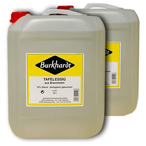 Burkhardt Tafelessig 10% Säure 2er Pack ( 2 x 10l Kanister)