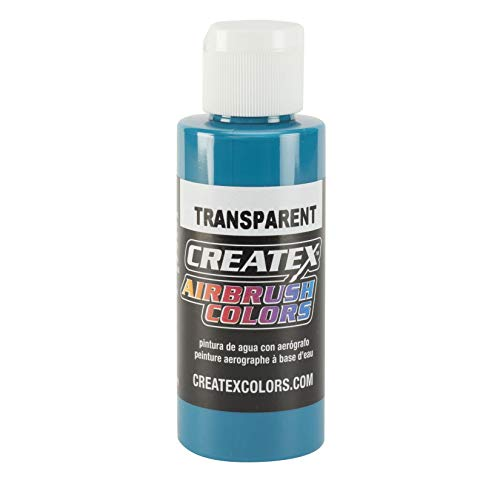 Airbrush Transparent Paint Capacity: 4 Oz, Color: Turquoise by Createx