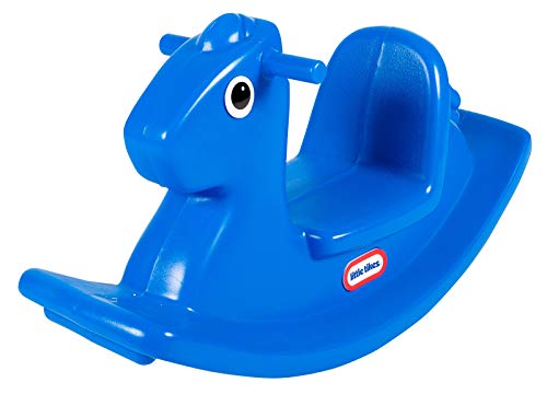 Little Tikes 173950E3 Rocking Horse-Active Play for Toddlers-Easy Grip Handles & Stable Saddle for Safety-Self Entertaining-Blue