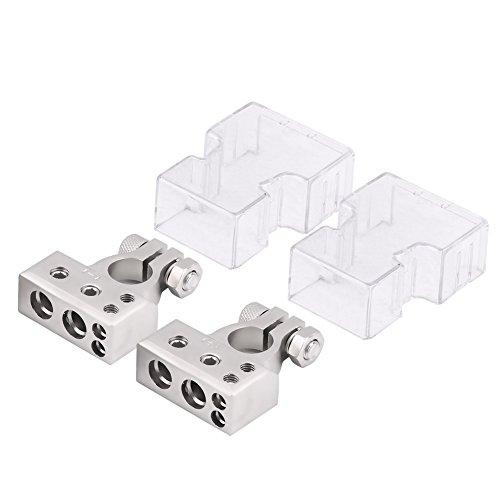 Qiilu Connettore della batteria Morsetto del morsetto della batteria Coppia morsetto connettore positivo e negativo per manometro 0/1 2 4 8 AWG lega di rame