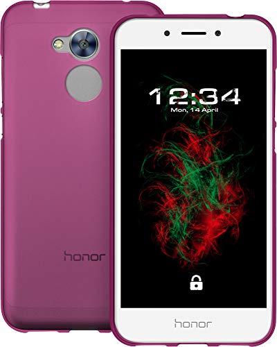 Baluum TPU Matt Pinke Hülle für Huawei Honor 6a Schutzhülle Hülle Cover Handyhülle Backcover Silikonhülle