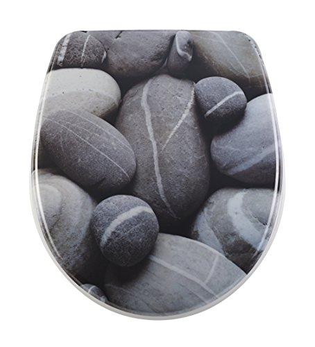 DIAQUA WC-bril Nice Slow-Motion, Stones, 40,5-46 x 37,5 cm, meerkleurig, 31171203