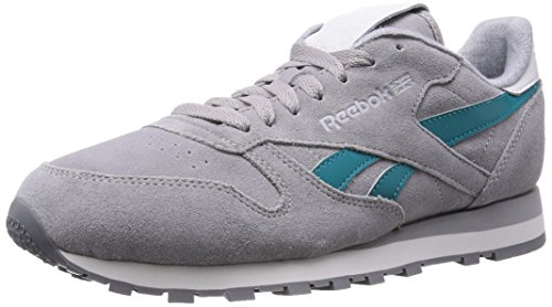 Reebok Classic Leather Suede, Herren Sneaker Grau Grey (Mgh Solid Grey/Team Gem/White/Steel/Shark) Gr. 45.5