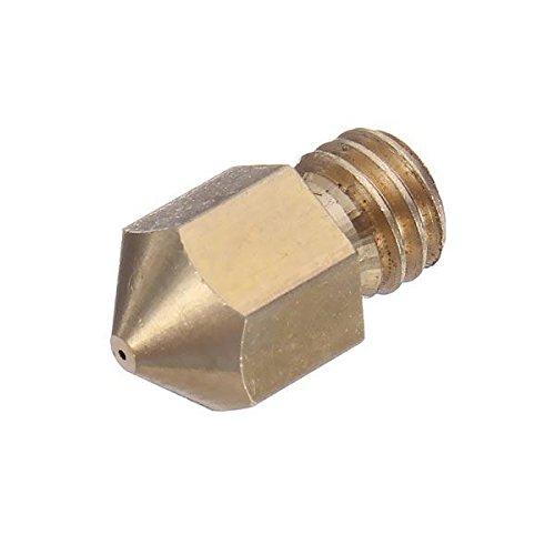 Meijin Drucker-Zubehör, 0,35 mm, 3D-Drucker-Extruder-Messingdüse für 3D-Drucker, 10 Stück