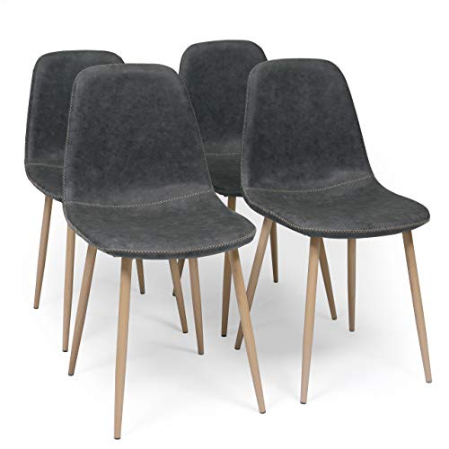 Sillas Comedor Pack 4 Beige Marca Homely