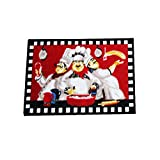 farawamu Fat Chef Kitchen Rugs and Mats, Washable Non Slip Latex Backing Red Kitchen Rugs Door Mats, Funny Chef Decorations for the Kitchen Red
