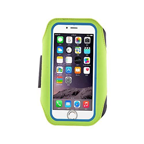 0 ℃ Outdoor Laufen Und Übung Armband Für Galaxy S8, S6 / S6 Edge Und iPhone X Mobile Handys Mit Einstellbarer Sport-Band, Reflektierende Grenze,Green