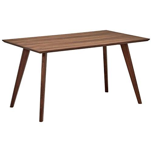 Marca Amazon -Rivet - Mesa de comedor minimalista estilo Mid-century, 134,8 cm de ancho (nogal)