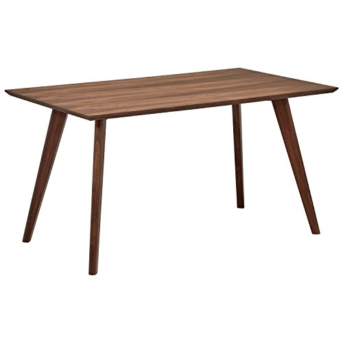 Amazon Brand -Rivet Minimalist Dining Table, Seats 2-4, 135 x 80 x 72cm, Walnut Table Top with Veneer/Solid Beech Legs
