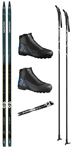 Salomon Escape 5 Cross Country Ski Package (Cross Country Skis, Boots, Bindings, Poles)