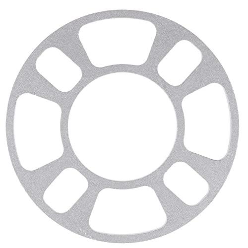 YYLVEV AUTOMÓVIL DE Aluminio Aleación de Ruedas Junta de Hub 4 Agujeros de 8 mm Grasamiento Gasket Automóvil Estilo Rueda Accesorios de neumáticos (Color : Silver)