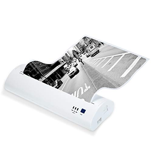 Xyfw Impresora Térmica A4, Mini Impresora Fotográfica Móvil De 210 Mm, Portátil, 203 PPP, Conexión USB BT, Compatible con Windows, Android, iOS