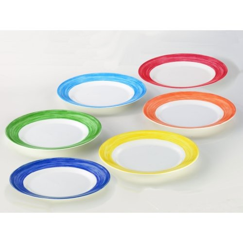 Arcoroc Teller flach, Ø 23,5 cm, 6 Stk. pro Farbe, hellblau