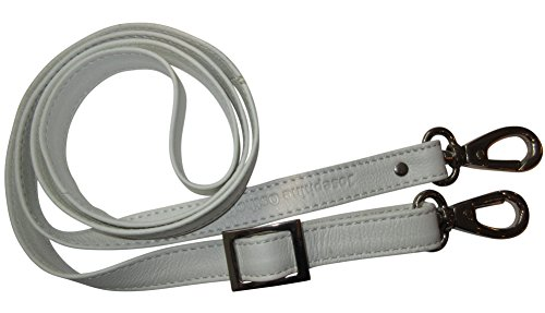 Josephine Osthoff Handtaschen-Manufaktur 2 cm Leder Schulterriemen - Weiß/Silber - Trageriemen,...