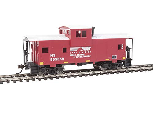 Walthers Trainline HO Scale Model Norfolk Southern Vision Caboose, Red/White