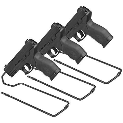 Boomstick Gun Zubehör Ständer Stil Vinyl Beschichtete Metall-Pistolen Pistole Rack (3Stück), schwarz